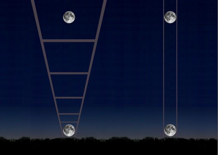 luna ilusion optica