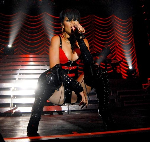 Rihanna performing live at RDS in Dublin, Ireland