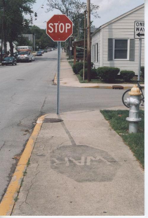 señal trafico stop war