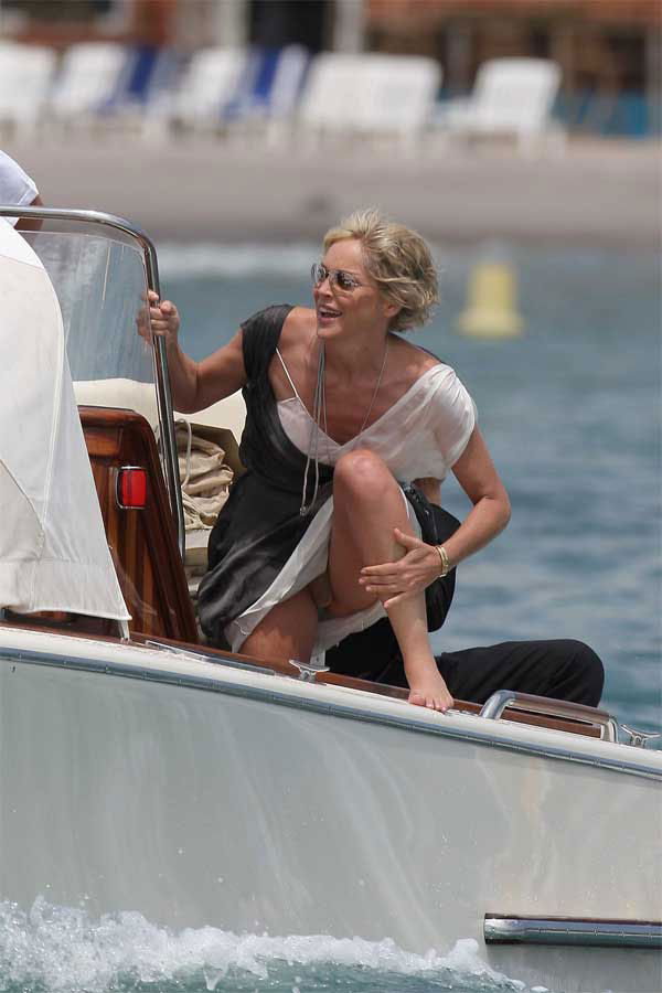 sharon stone cannes