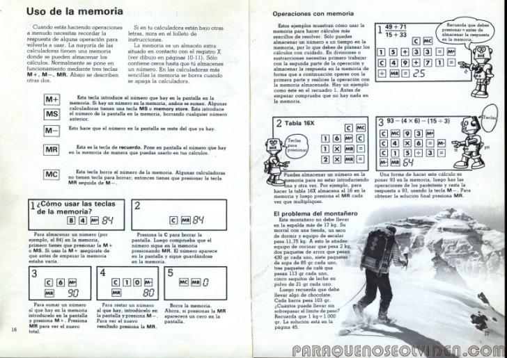 calculadoras bolsillo 16-17