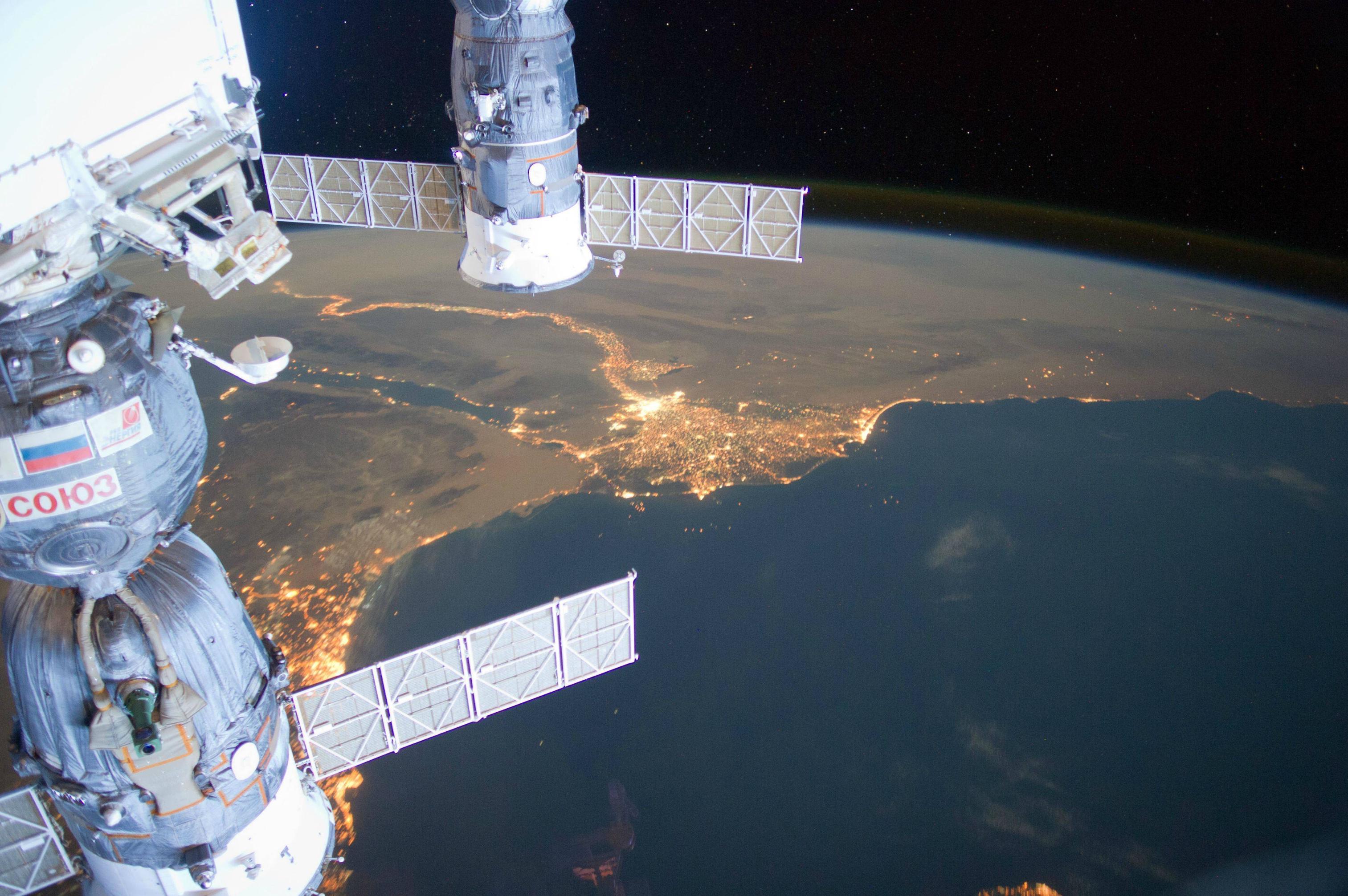 egipto desde espacio Estacion Espacial Internacional
