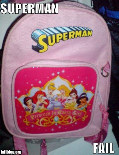 fails mochila superman