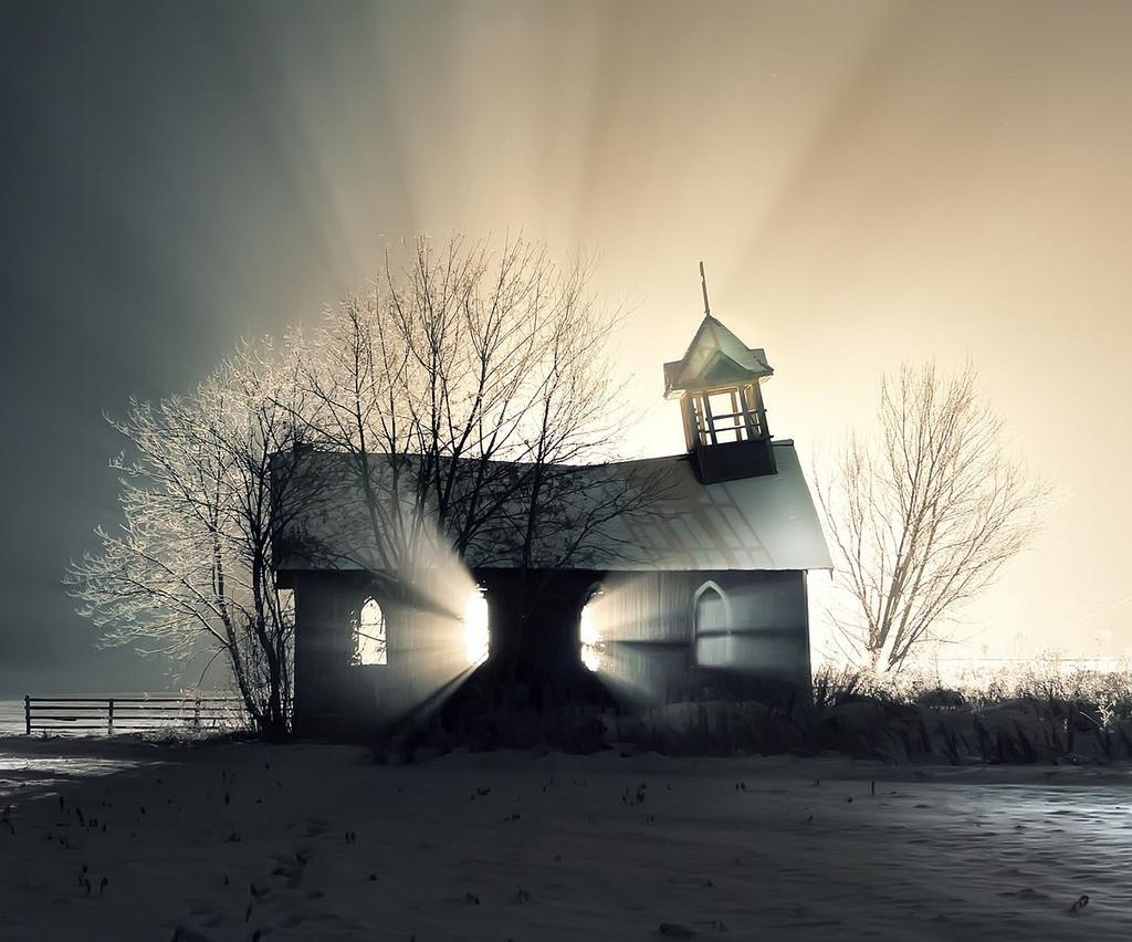 iglesia abandonada alaska