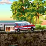Juego de conducir la ambulancia del hospital