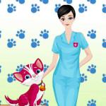 Juego de moda en la clínica veterinaria