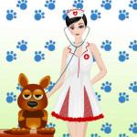 Juego de moda con la doctora veterinaria
