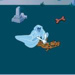 Scooby Doo escapa del fantasma del cementerio
