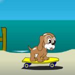 Juego de skateboard con perrito