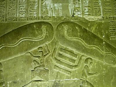 lamparas dendera egipto
