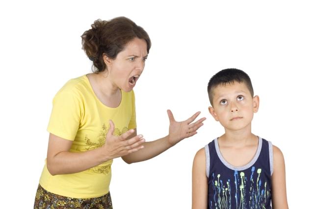 madre enfadada
