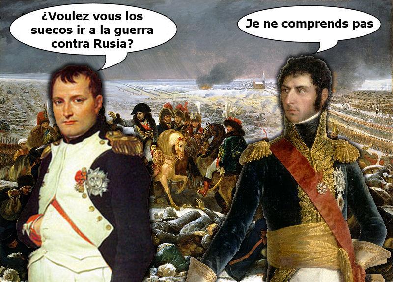 napoleon Bernadotte Carlos XIV suecia guerra