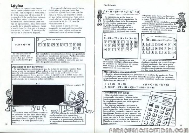 plesa calculadoras 30-31