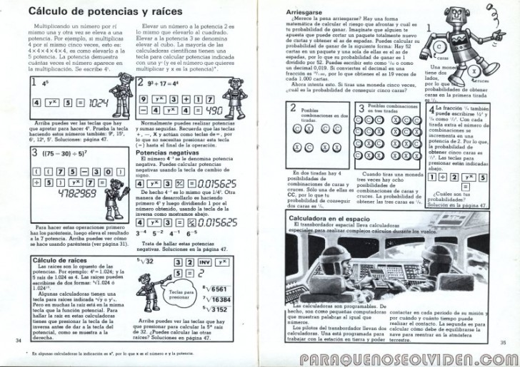plesa calculadoras 34-35