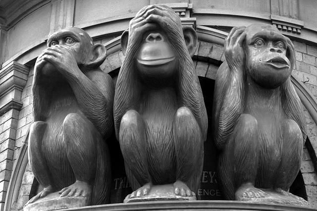 tres monos oir ver callar