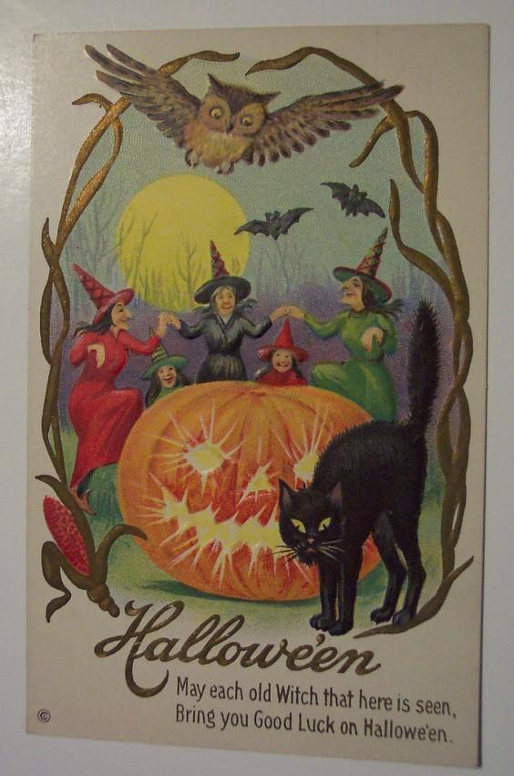 Ilustracion Halloween antigua 069