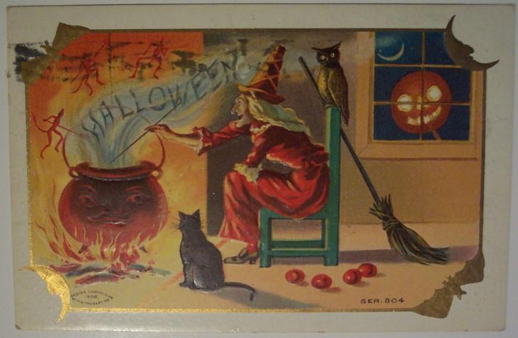 Ilustracion Halloween antigua 162