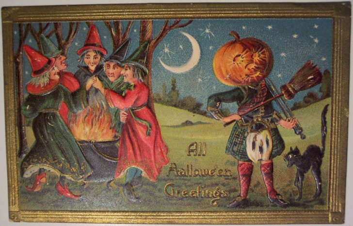 Ilustracion Halloween antigua 174