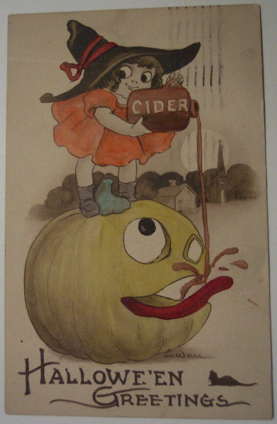 Ilustracion Halloween retro 038