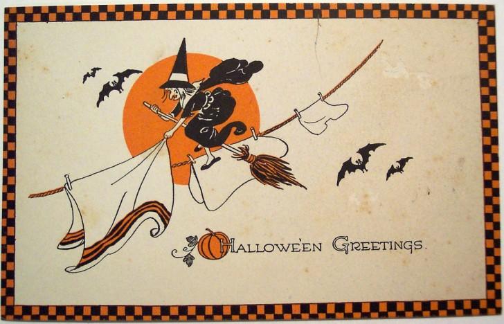Ilustracion Halloween retro 082