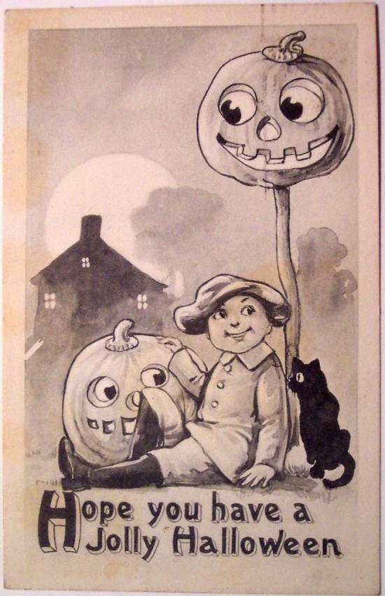 Ilustracion Halloween retro 094