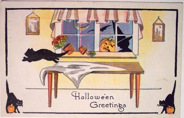 Ilustracion Halloween retro 095