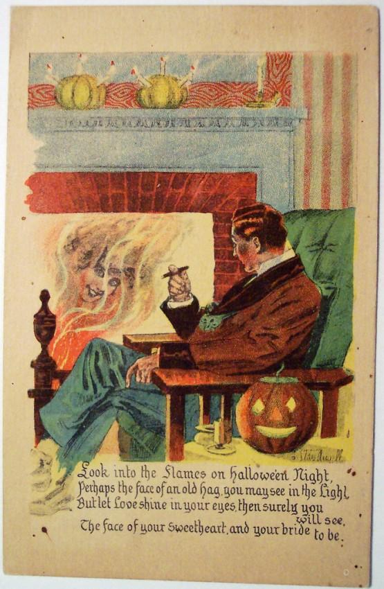 Ilustracion Halloween retro 096