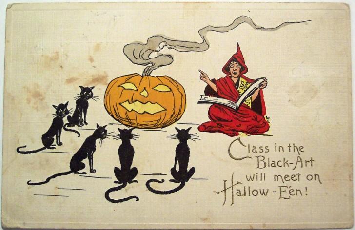 Ilustracion Halloween retro 099