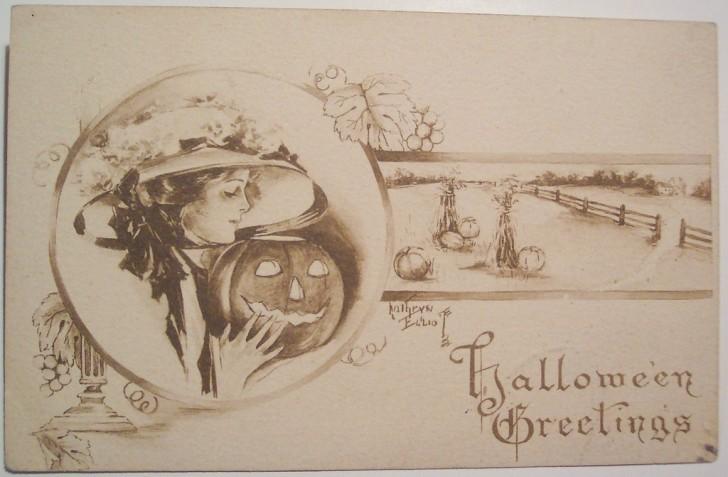 Ilustracion Halloween retro 116