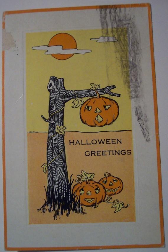Ilustracion Halloween retro 123