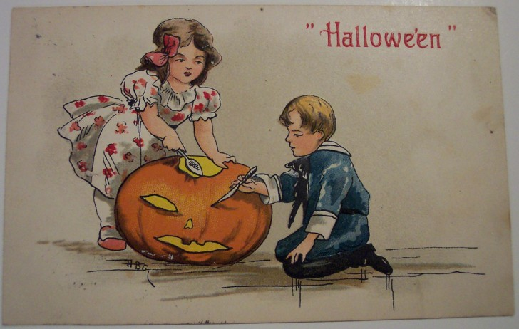 Ilustracion Halloween retro 143