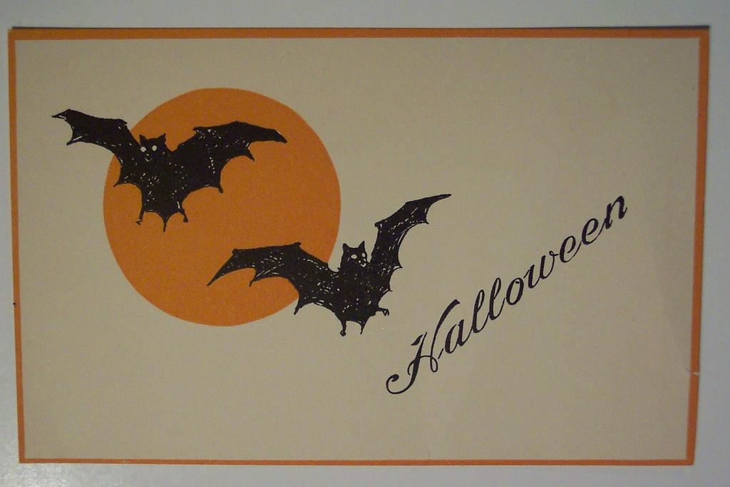 Открытки на хэллоуин рисунок 94