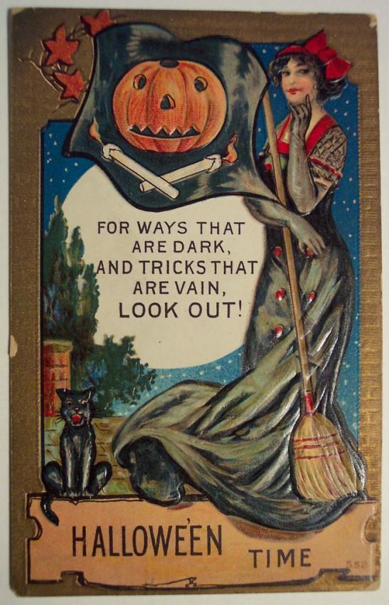 Ilustracion vintage Halloween 048