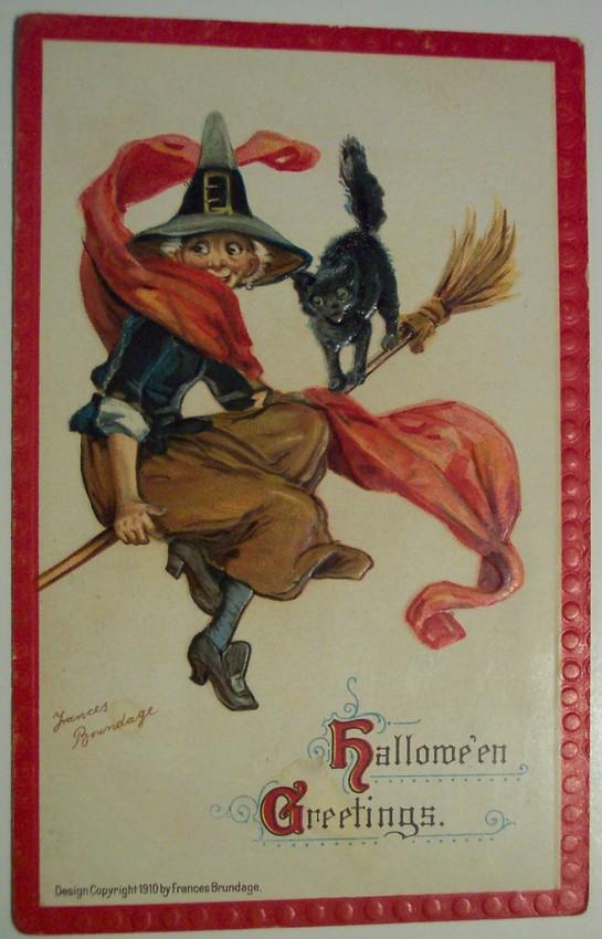 Ilustracion vintage Halloween 064