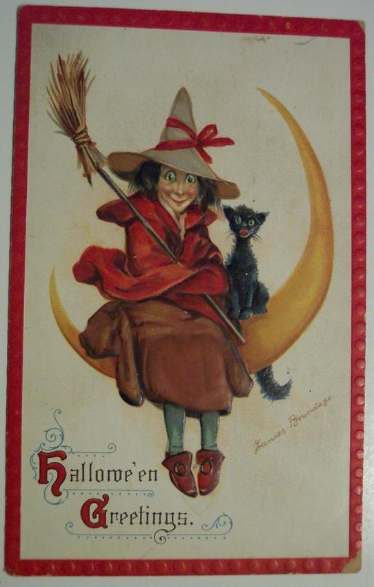 Ilustracion vintage Halloween 066