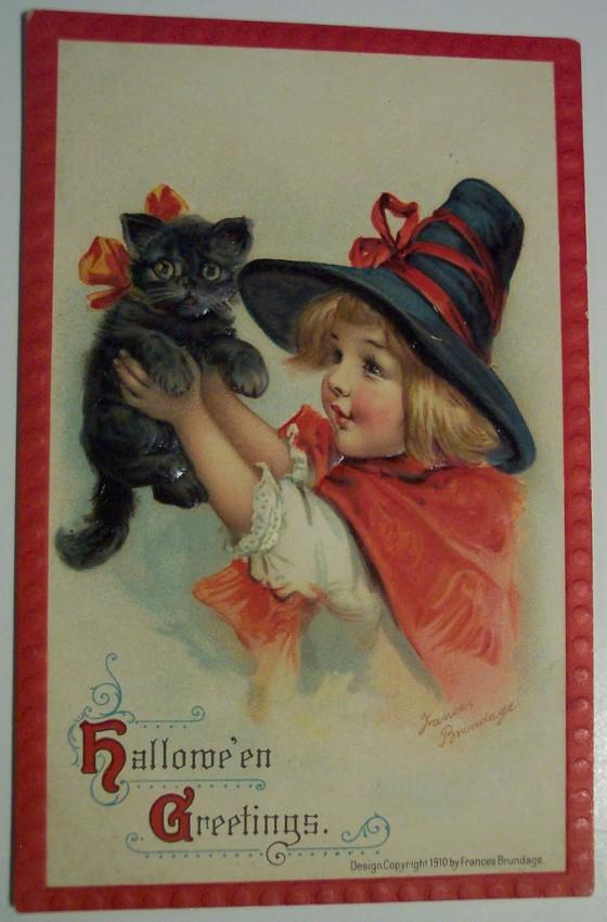 Ilustracion vintage Halloween 069