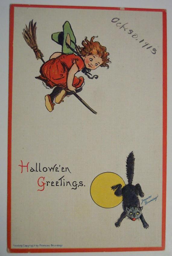 Ilustracion vintage Halloween 079