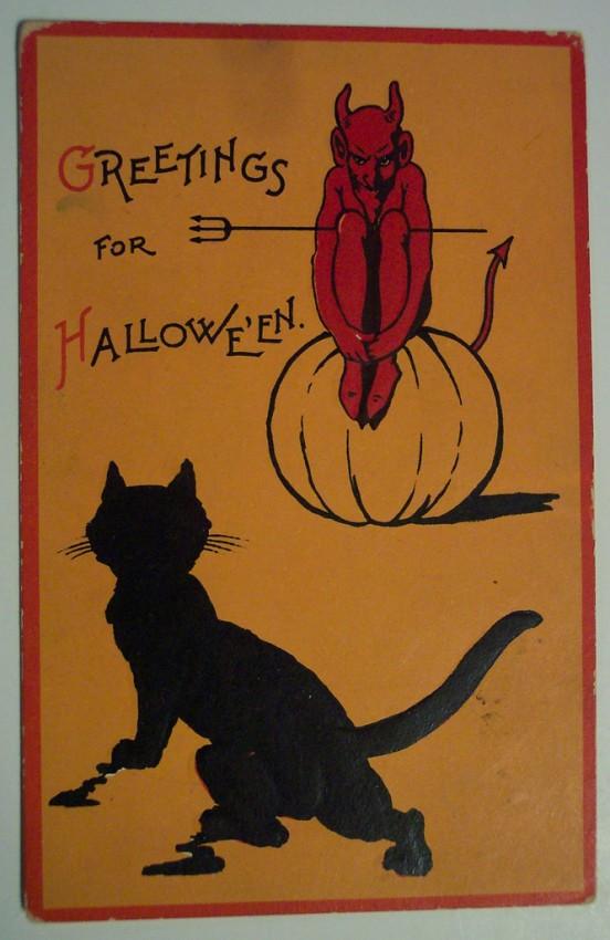 Ilustracion vintage Halloween 084