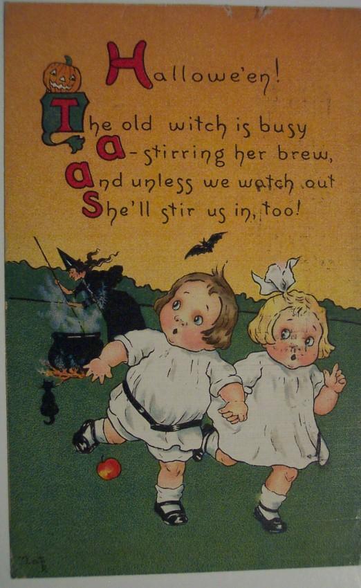 Ilustracion vintage Halloween 090