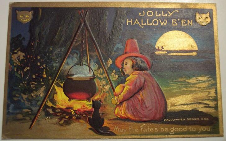 Ilustracion vintage Halloween 094