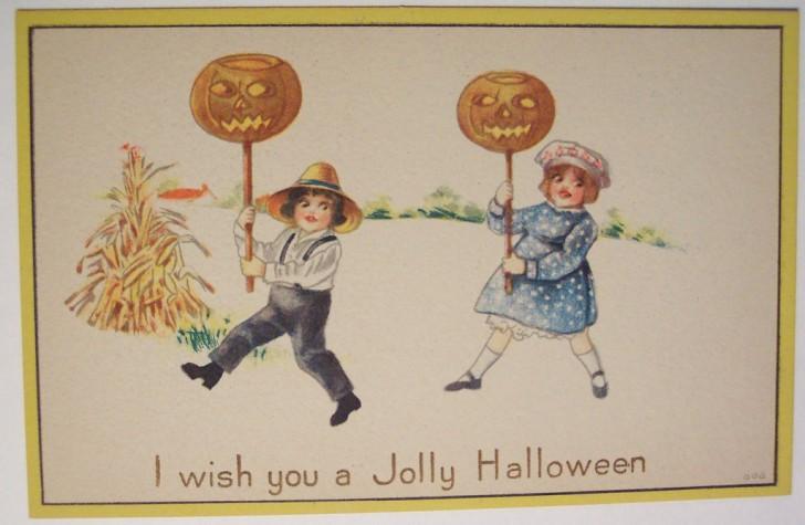 Ilustracion vintage Halloween 098