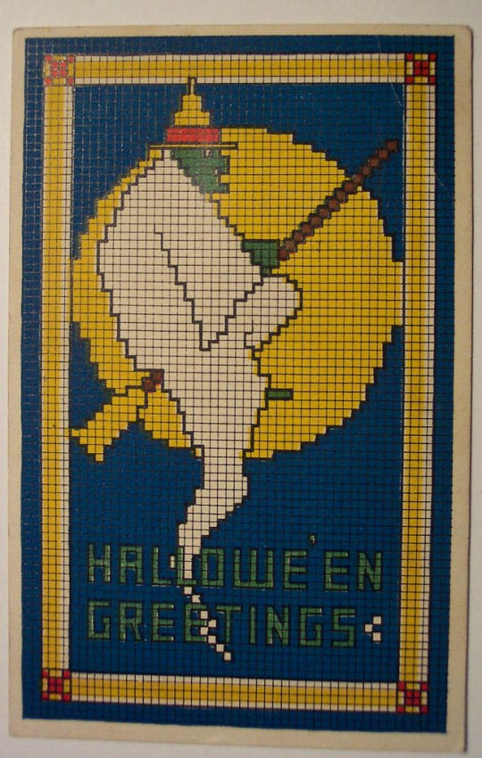Ilustracion vintage Halloween 106