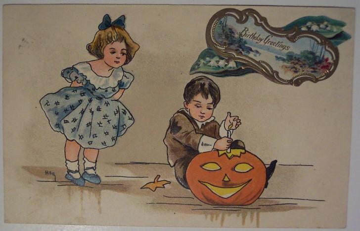 Ilustracion vintage Halloween 122