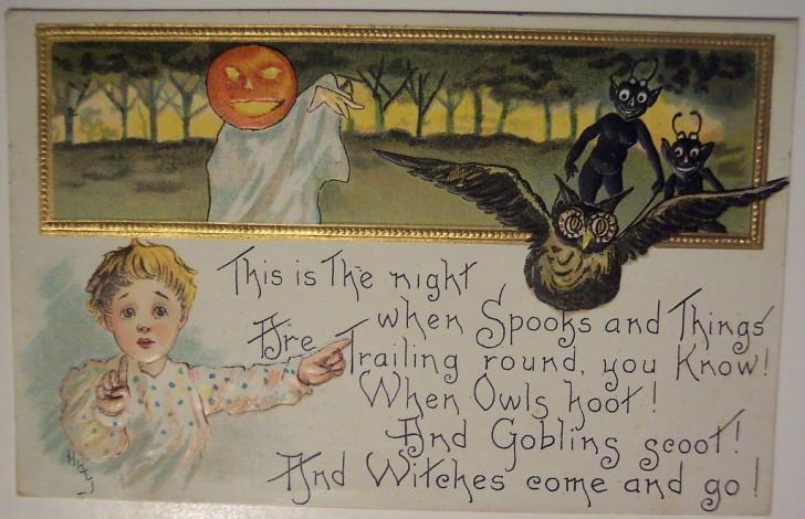 Ilustracion vintage Halloween 123