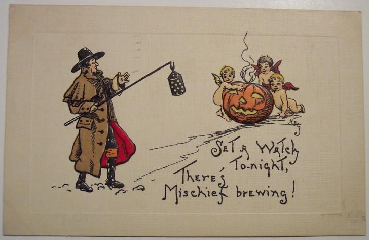 Ilustracion vintage Halloween 147