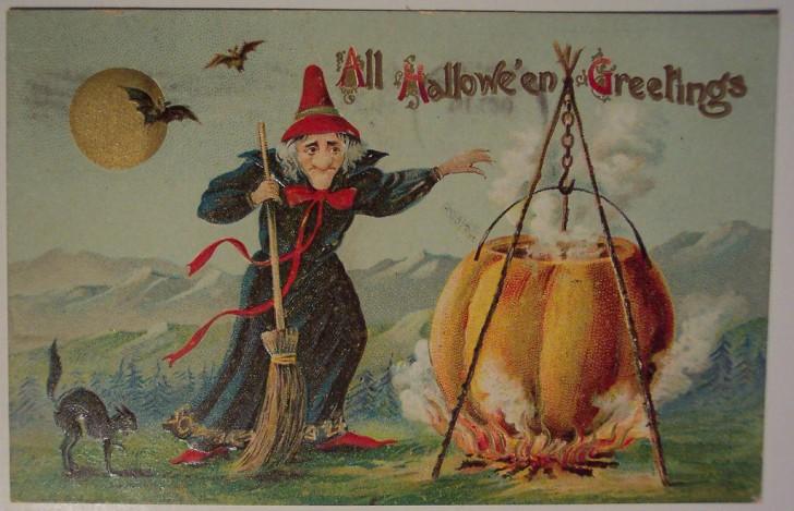 Ilustracion vintage Halloween 163