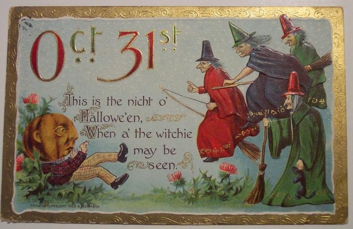 Ilustracion vintage Halloween 168