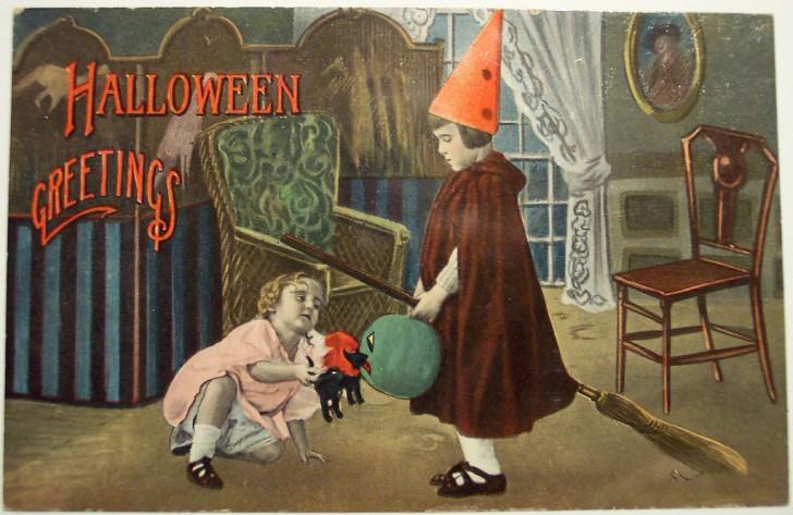 Ilustraciones Halloween antiguas 039