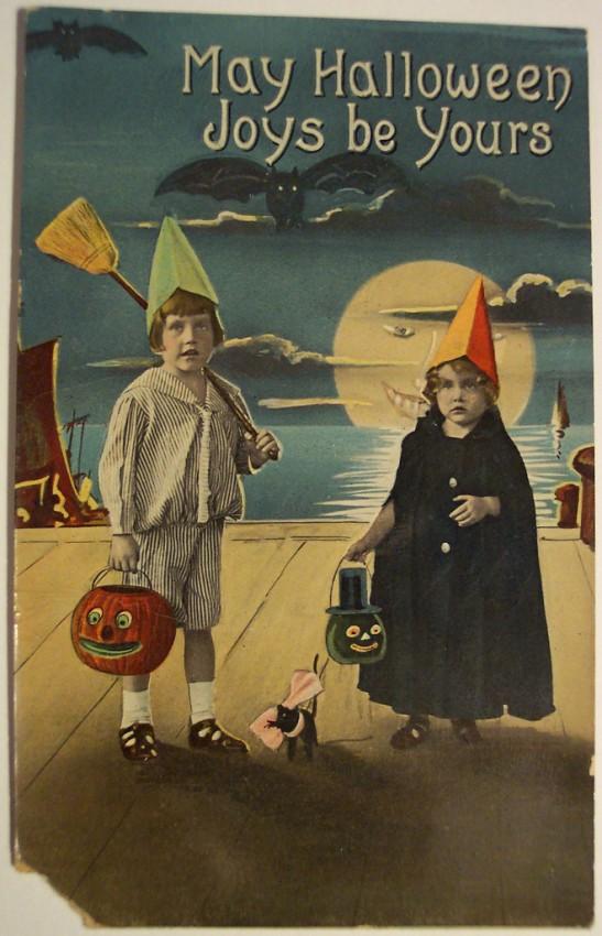 Ilustraciones Halloween antiguas 045