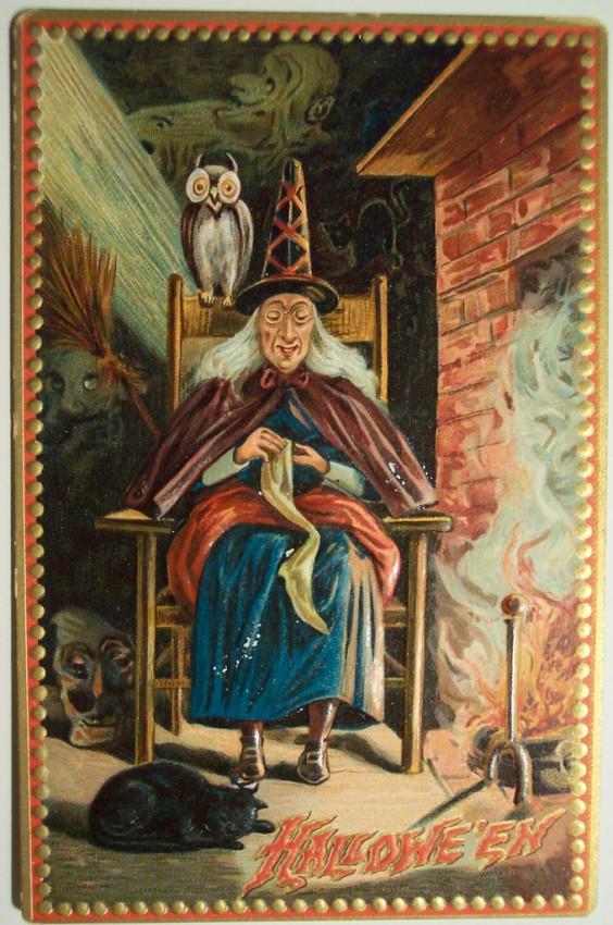 Ilustraciones Halloween antiguas 054